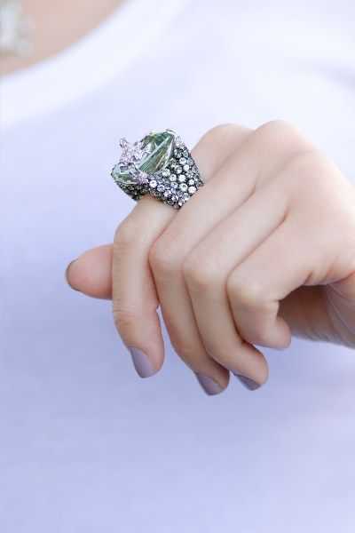 Adolfo Courrier Green Sapphire Frog Ring | Oster Jewelers Blog