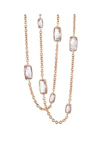 A & Furst 78.50ctw Rose de France Chain Necklace | Oster Jewelers