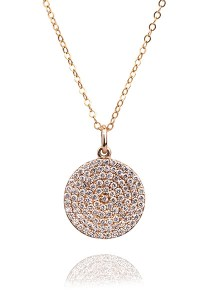 Oster Collection 0.80ctw Pave Diamond Disc Pendant Necklace | Oster Jewelers