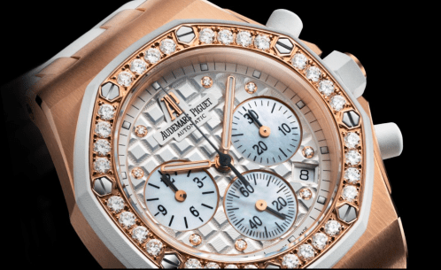 Royal Oak Offshore Rosegold With Diamond Bezel
