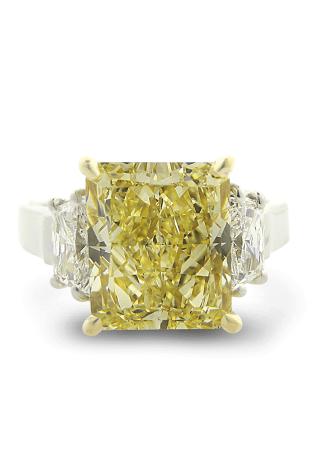 Louis Glick Yellow Starburst Diamond Ring