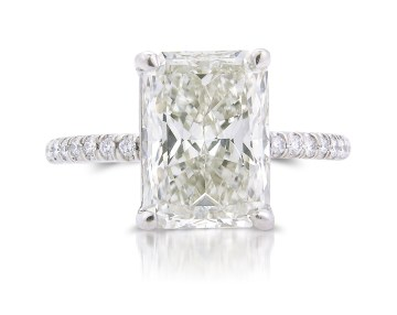 Louis Glick White Diamond Starburst Ring