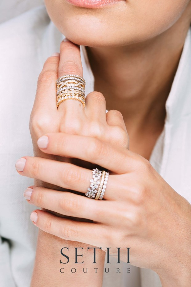 Sethi Couture Diamond Stacks at Oster Jewelers