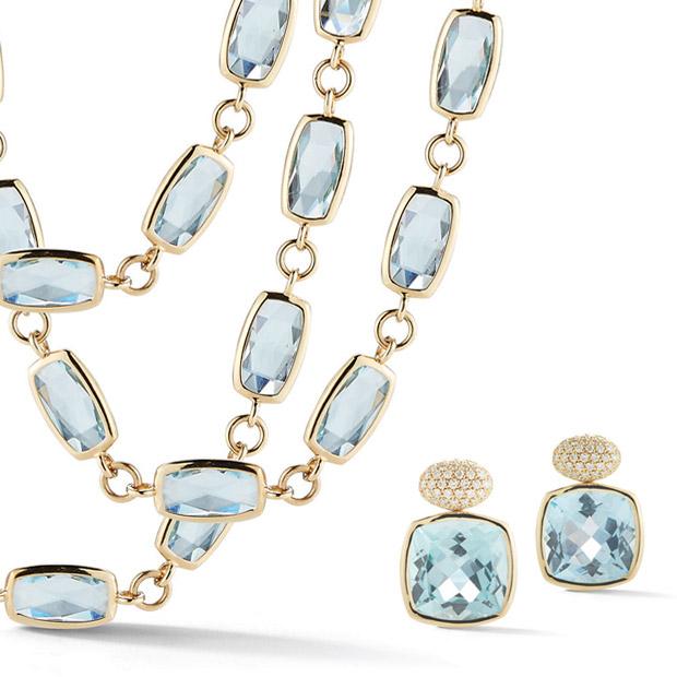 A & Furst Jewels Blue Topaz