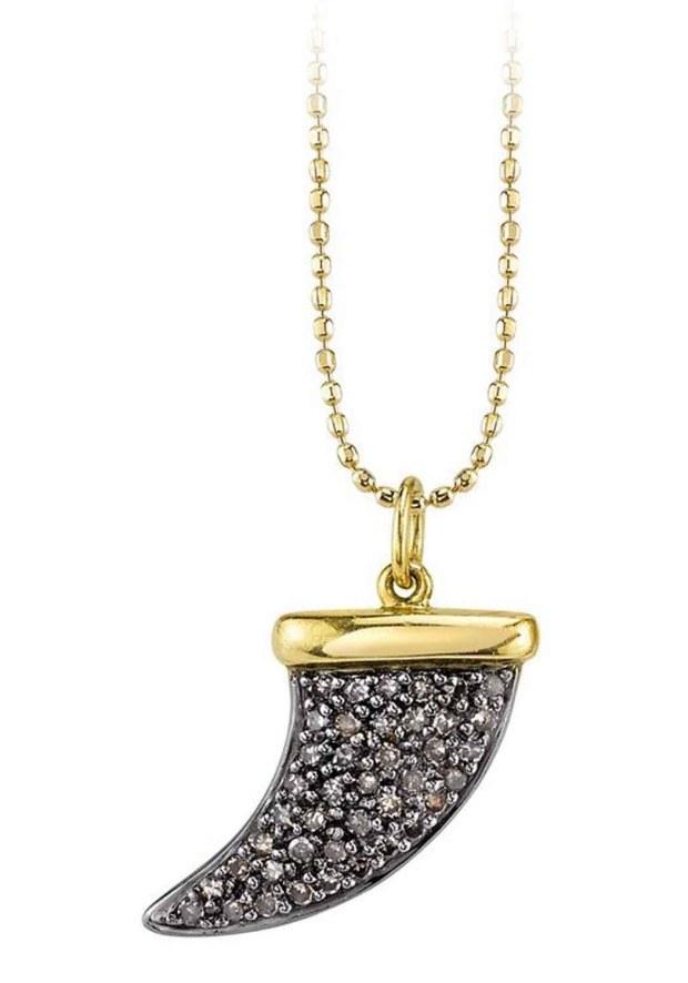 17 Sydney Evan Diamond Horn Pendant Necklace