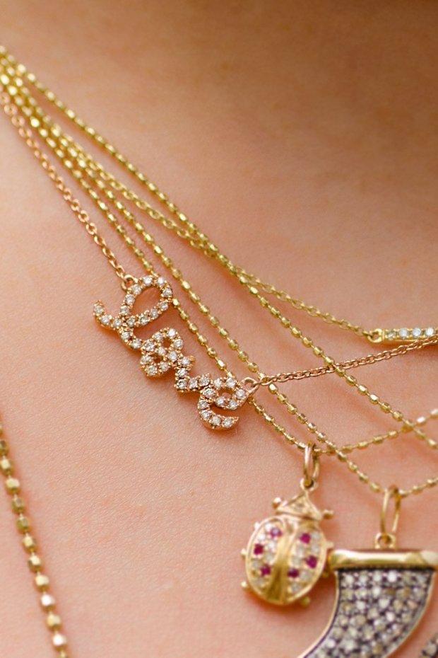 Sydney Evan Rose Gold Love Necklace