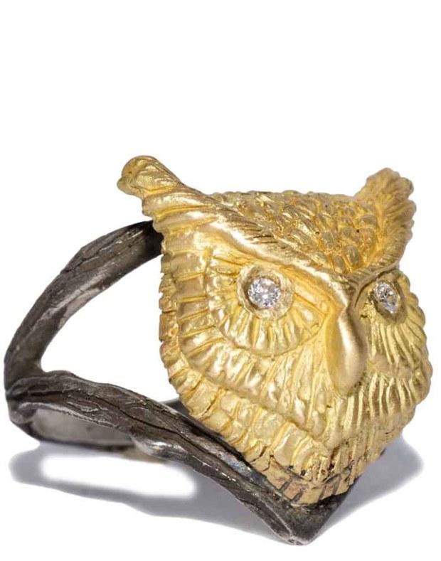 Melinda Risk Owl Spirit Animal Ring