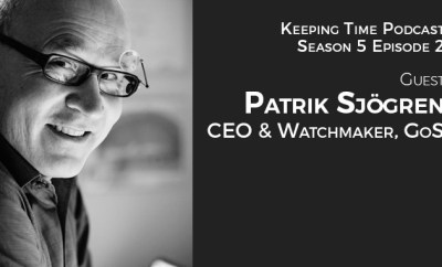 Patrik Sjogren, CEO & Watchmaker of GoS Watches