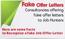 Fake Offer Letter