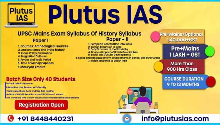 UPSC History Syllabus 2020-21
