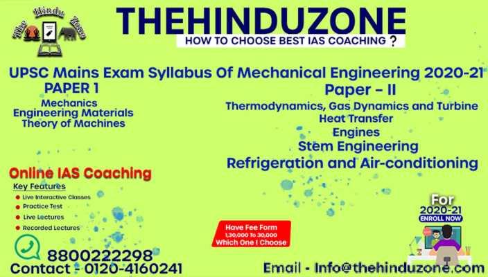 Mechanical Engineering Syllabus 2020-21