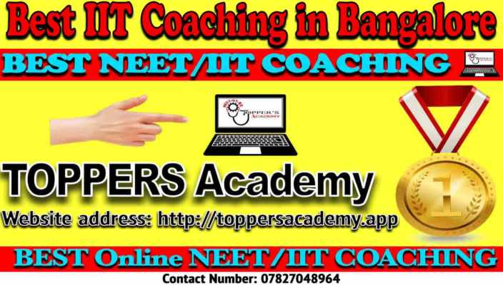 Best IIT JEE Coaching Institutes in Bangalore