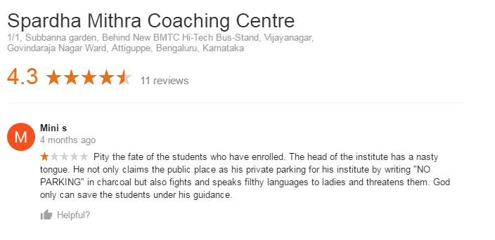 Spardha Mithra Coaching Centre For IBPS In Bangalore
