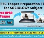 UPSC Topper Preparation Tips for SOCIOLOGY Subject