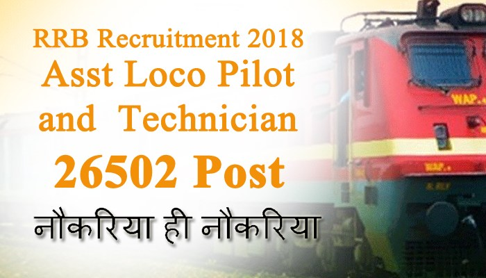 RRB 2018 Syllabus Asst Loco Pilot and Technician 26502 POST