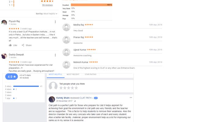 CLAT PATH Coaching Patna Reviews