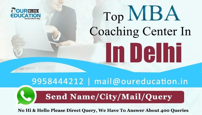 Top MBA Coaching institutes in Delhi