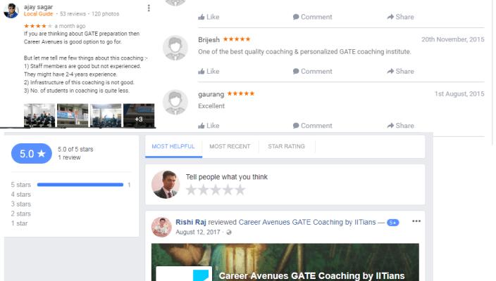 Career Avenues GATE Ahmadabad Coaching reviews