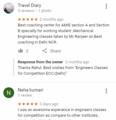 Engineers Classes PSU Coaching Delhi Reviews