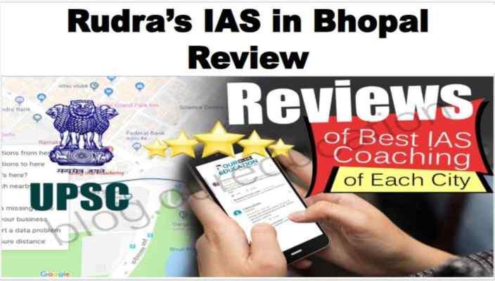 Rudra's IAS in Bhopal reviews