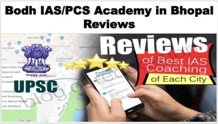 BODH IAS PSC Academy Bhopal Reviews