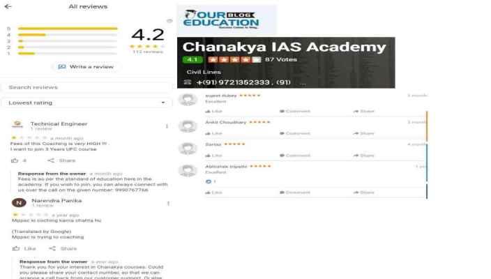 Chanakya IAS Academy Allahabad Reviews