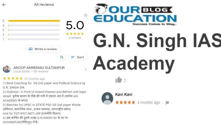 G.N. Singh IAS Academy reviews