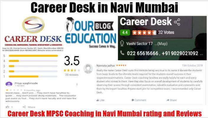 Career Desk MPSC Coaching Classes in Navi Mumbai Reviews