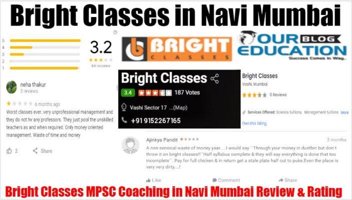 Bright Classes MPSC Coaching In Navi Mumbai Review