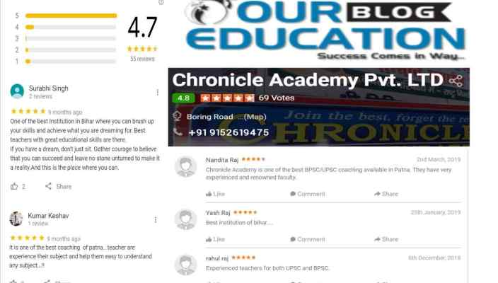 Chronicle Academy IAS Coaching in Patna Reviews