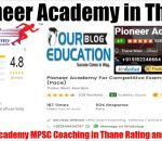 Pioneer Academy MPSC Coaching in Thane review