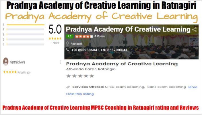 Pradnya Academy of Creative Learning MPSC Coaching in Ratnagiri Review