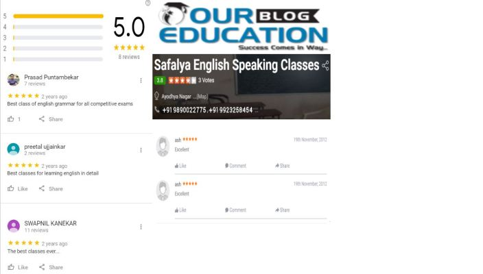 Safalya English Speaking & Grammar Classes for MPSC in Nagpur Review