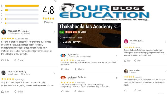 Thakshasila Civil Service Academy in Trivandrum Review