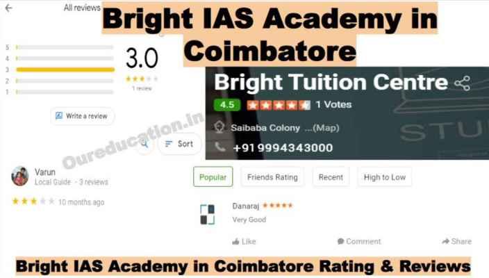 Bright IAS Academy on Coimbatore