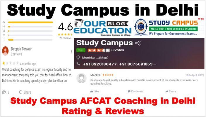 Study Campus AFCAT Coaching in Delhi Reviews