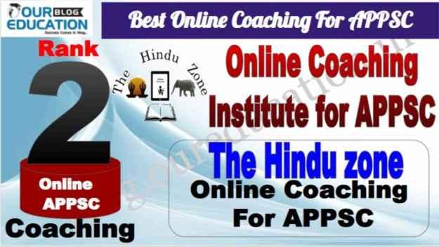 Rank 2 Best Online Coaching for APPSC