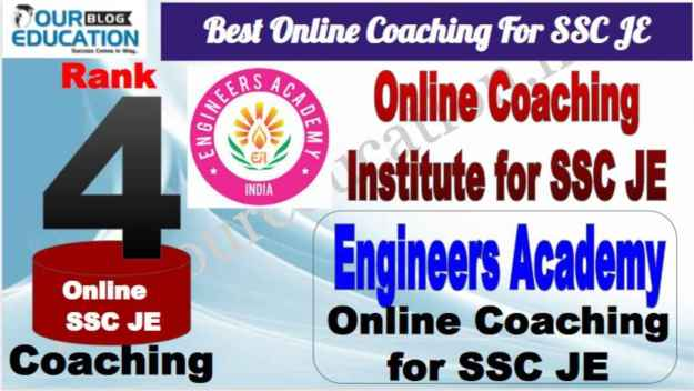 Rank 4 Best Online Coaching For SSC JE