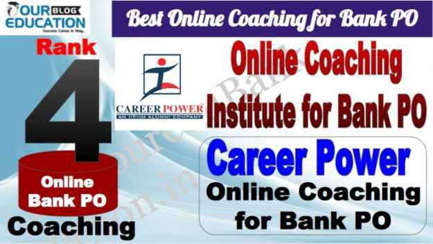 Rank 4 Best Online Coaching for Bank PO