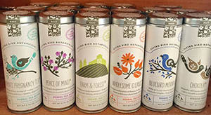 Flying Bird Botanicals tea tins