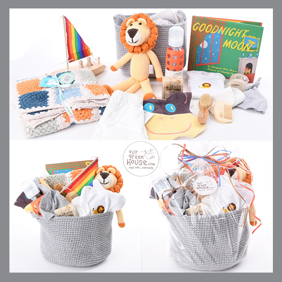 custom organic corporate baby gift basket