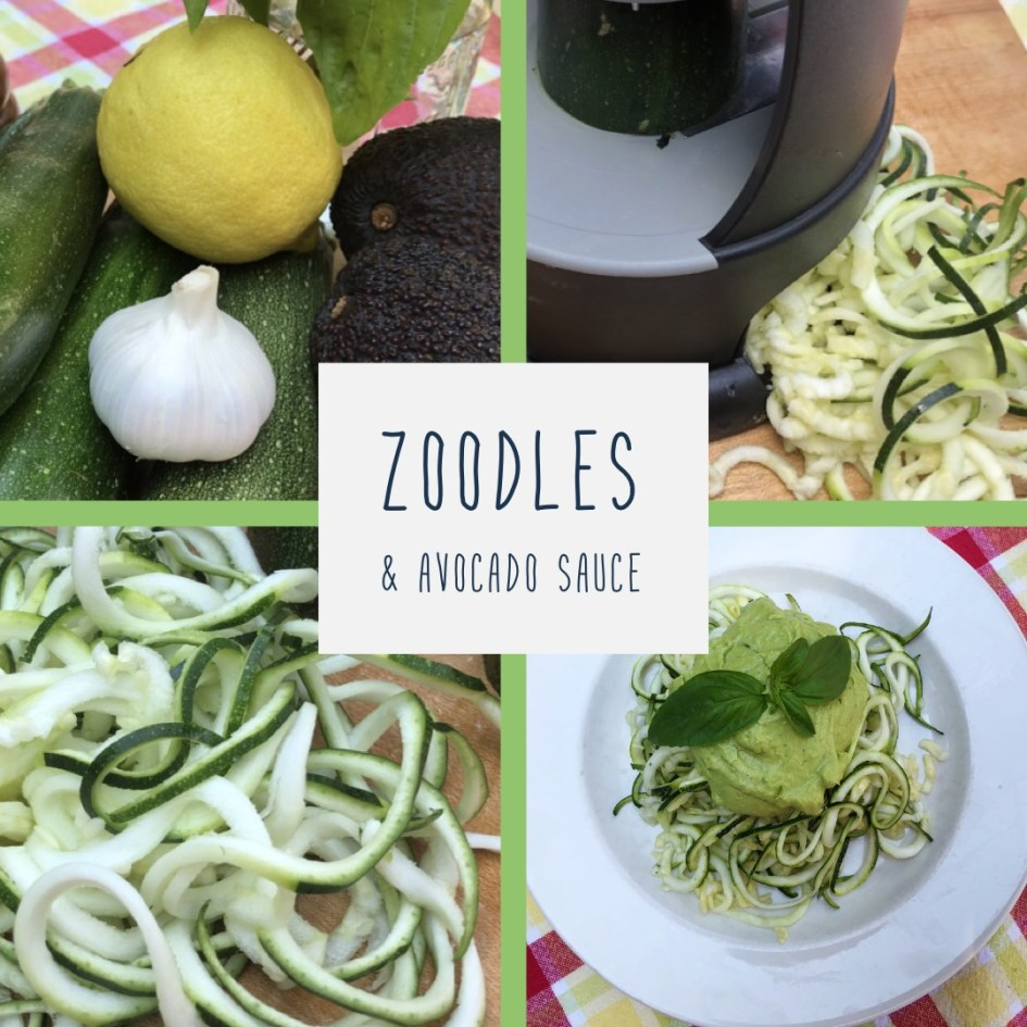 zucchini (zoodles) and avocado sauce