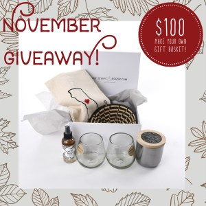 Make Your Own Gift Basket Giveaway Nov 18