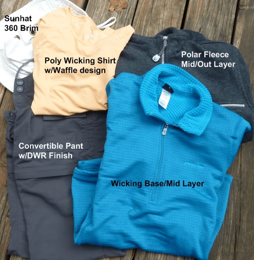 Clothing for Hiking or Backpacking
