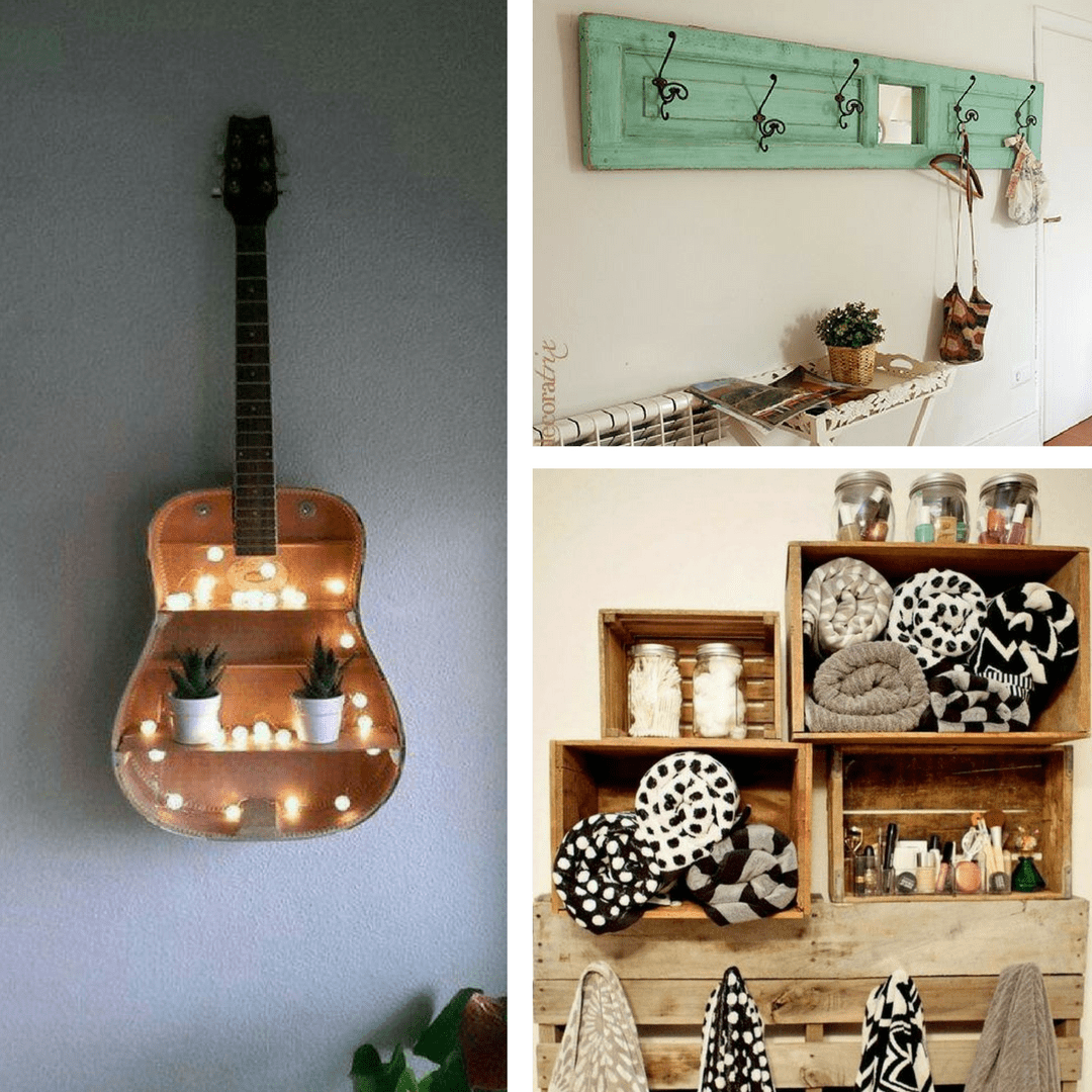 Ideas originales para decorar tu casa muchas ideas for Muebles con objetos reciclados