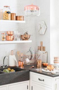 decoración cobre cocina