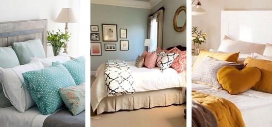 opciones de decoración con cojines en tu dormitorio