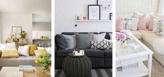 Ideas para decorar tu salón con cojines