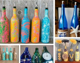 Ideas para decorar con botellas