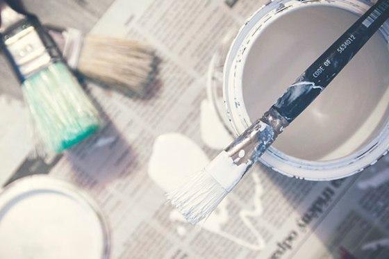 Prepara los espacios para pintar